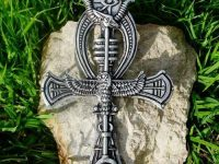 ANKH Egyptian Cross of life Horus Eye of Ra Illuminati PAGAN PENDANT Pewter