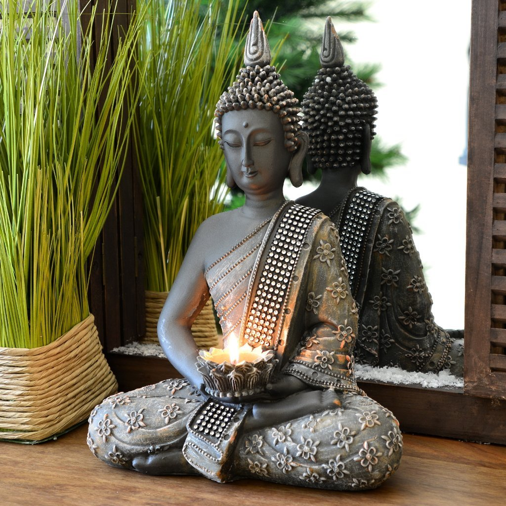 Buddha Statue Candleholder 187 Gemchantress